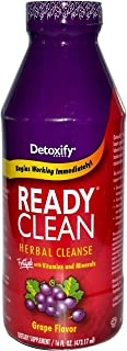 5 Pack - Detoxify Ready Clean Herbal Cleanse 16 Fl Oz Grape Flavor with Free Im Baked Bro and Doob Tubes Sticker