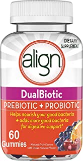Align DualBiotic, Prebiotic + Probiotic for Men And Women, Help nourish and add good bacteria for digestive support, Natur...