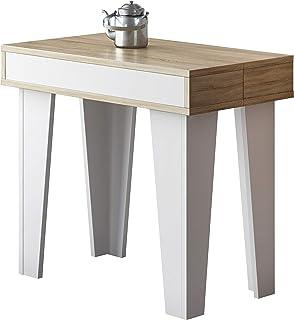 Home Innovation - Table Console Extensible rectangulaire avec rallonges, Nordic KL jusqu'à 300 cm, Style Scandinave, pour ...