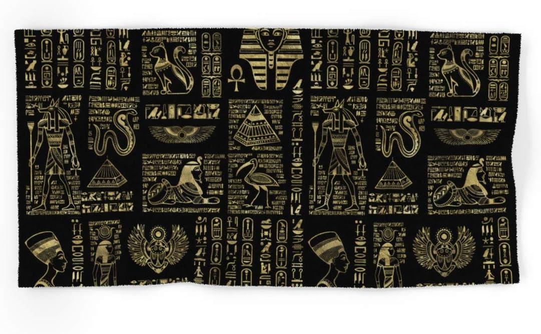 Egyptian Hieroglyphs Superlatite and Deities Gold Black On by Manufacturer OFFicial shop Creativemotion