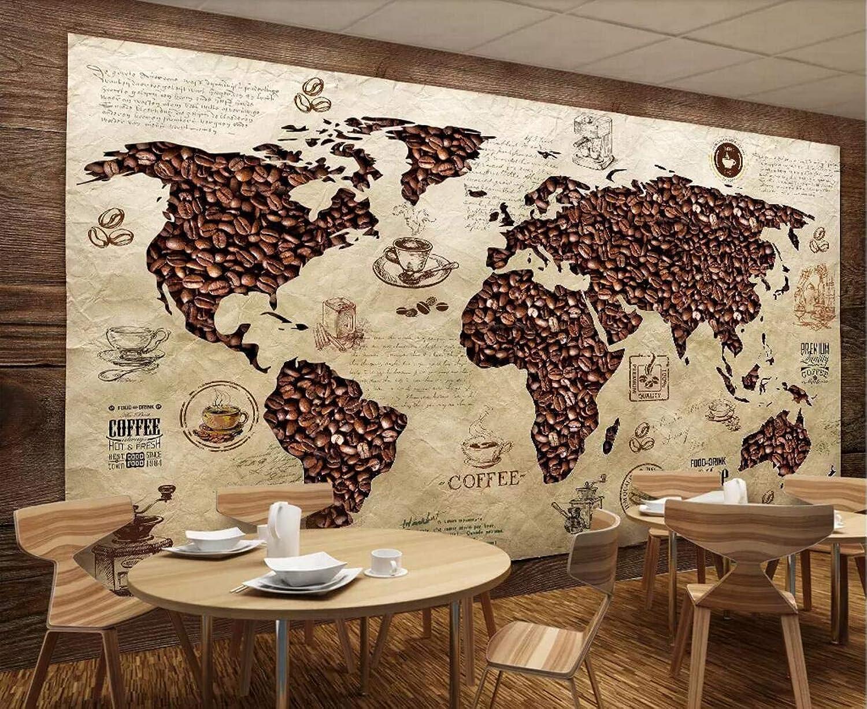 Fototapete 3d Tapete Kaffee Weltkarte Retro Hintergrund