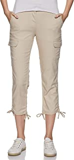 Amazon Brand - Symbol Women's Cargo Pants (SHAKTITRS001_Beige_M)