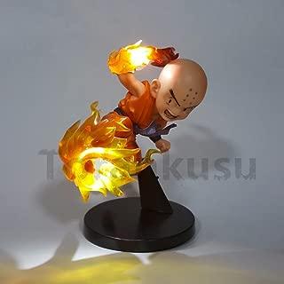 Dragon Ball Z Krillin PVC Action figure Fire Fist Led Light Model Toy Anime Dragon Ball Super DBZ Goku Super Saiyan Krillin