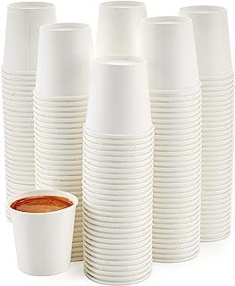 [200 عبوة] أكواب ورقية إسبرسو سعة 118 مل - أكواب قهوة صغيرة ذات ورق أبيض ساخن للاستعمال مرة واحدة مناسبة لإيسبريسو وماكيات...