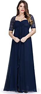 Ever-Pretty Women's Plus Size Elegant Lace Half Sleeves Formal Evening Dresses 07625