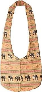 Lofbaz Women's Elephant Spiral Crossbody Cotton Boho Bag