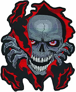 Lethal Threat Skull Rip Embroidered Patch (Large)