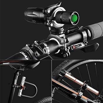 Flashlight Holder Mount Bicycle 2 Pack Mounting Bracket Flashlight