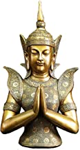 Thai Buddha Statue Thai Buddha Statue Figurine Craft Ornament Southeast Asian Style Yoga Club Thai Zen Home Entrance Decor...