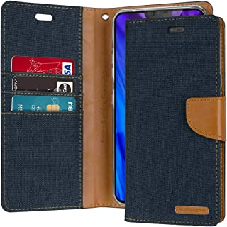 GOOSPERY LG V40 ThinQ Case, LG V40 Case [Drop Protection] Canvas Diary [Denim Material] Wallet Case [Card Slots] Stand Fli...