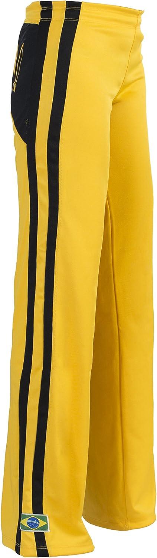 Brazil Made, Authentic Capoeira Abada Martial Arts Sweatpants  Women's (Yellow)