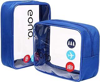 Eono by Amazon - Beauty Case da Viaggio Clear Borsa da Viaggio Impermeabile Cosmetici Trousse Trasparente Toiletry Bag Kit...