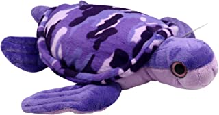 """14"""" Camo Turtle Stuffed Animal Plush Toy, Cute, Ultra Cuddly & Huggable Soft Toy, Nursery Decor, Baby Shower Decoration, Christmas or Birthday Gift for Boys and Girls Plus Forest Animal Finger Puppet"""