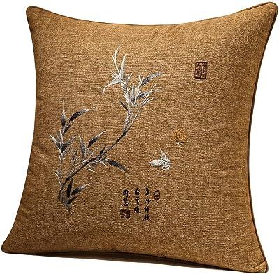 Amazon.com: Lujo Oro decorativo almohada cubierta, yute ...