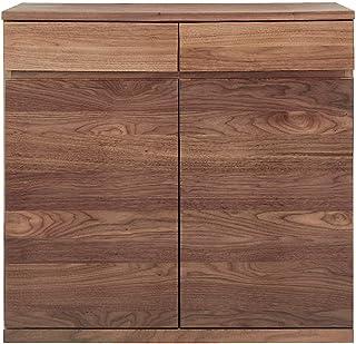 無印良品 木製キャビネット・木扉・ウォールナット材 幅88×奥行44×高さ83cm 82219029