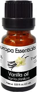 Europa Essentials 100% Pure Therapeutic Grade Essential Oils, 36 Aromatherapy Scents Collection – Vanilla, 10ml