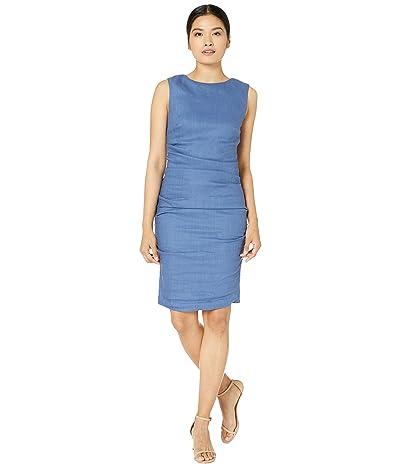 Nicole Miller Lauren Stretch Linen Dress (Vintage Denim) Women