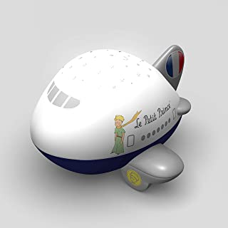 The Little Prince Airplane Star Projector Night Light with 4 Soothing lullabies Sound Machine by Lumitusi