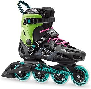 Rollerblade Maxxum Classic Unisex Adult Fitness Inline Skate, Black and Acid Green, High Performance Inline Skates