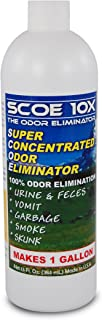 SCOE 10X - Natural Probiotic Odor Eliminator Concentrate - Makes 1 Gallon – Removes Dog Urine, Cat Urine, Pet Odors, Other Odor-Causing Problems - 100% Odor Elimination