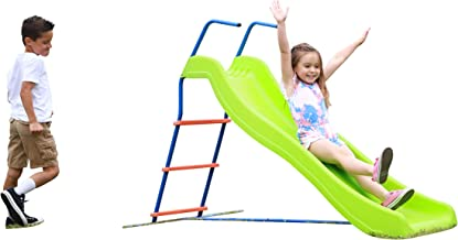 Kids 6ft Outdoor Playground Slide: Freestanding Play Equipment Playset for Children. Perfect Indoor Outdoor Backyard Entertainment. Maximum Child Safety Standards. Easy Assembly.
