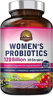 Vitalitown 120 Billion CFUs Women's Probiotics 1 Cap Daily | 30 Strains + Prebiotics + Digestive Enzymes + Cranberry | She...