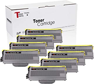 Tonersave TN360 TN-360 8 Pack Black Toner Cartridge Compatible for Brother HL-2140 HL-2170 HL-2170W MFC-7840W MFC-7440N DCP-7030 HL-2150 HL-2150N DCP-7040 DCP-7045N MFC-7320 MFC-7340 Laser Printer