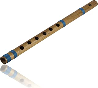 Unique Birthday Gift Ideas 11 inch Authentic Indian Wooden Bamboo Flute in 'E' Key Fipple Woodwind Musical Instrument Reco...