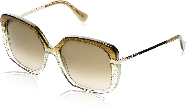 EMILIO PUCCI Sunglasses EP743S 313 Ellisse On Green Gradient 56MM