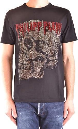Philipp Plein Homme MTK3066PJY002N02 Noir Coton T-Shirt