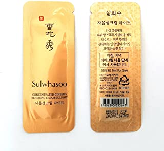 30X Sulwhasoo concentrated ginseng renewing cream EX Light 1mlX30pcs 30ml and Hair Tie