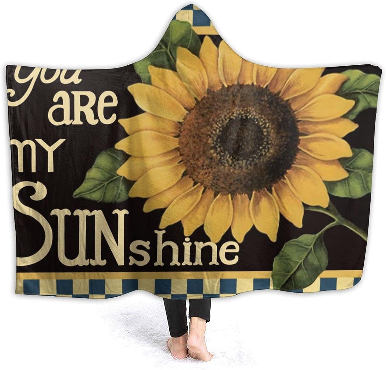 AUISS Wearable Throw Max 74% OFF Blanket Under blast sales Sunflower Sunshine Hoodie Wra