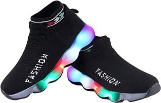LNG Lifestyle 2.5-10 Years Children Baby Girls & Boys Mesh Led Luminous Socks Sport Running Sneakers