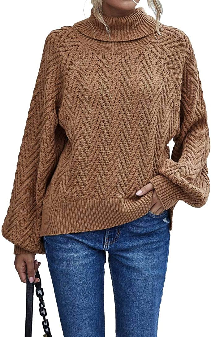 Cowlneck Sweater Long Sleeve Fashion We OFFer at cheap prices Mail order Jumper Knitted Top Pullover