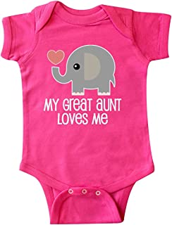 inktastic Great Aunt Loves Me Elephant Infant Creeper