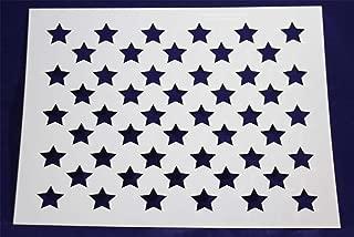 50 Star Field Stencil - 17.6 x 22 Inches - USA American Flag