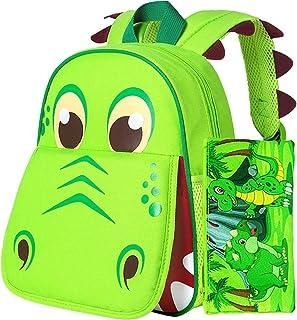 """Sponsored Ad - Toddler Backpack, 12"""" Dinosaur Prechool Bag for Boys Girls"""