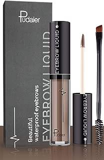 Effie Lancelot Waterproof Liquid Eyebrow Gels-24Hours Long Lasting Smudge-Proof Tinted Makeup Color Brow Gel-Reddish Brown