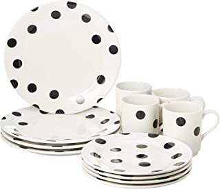 Kate Spade New York 857725 Deco Dot 12 Piece Set