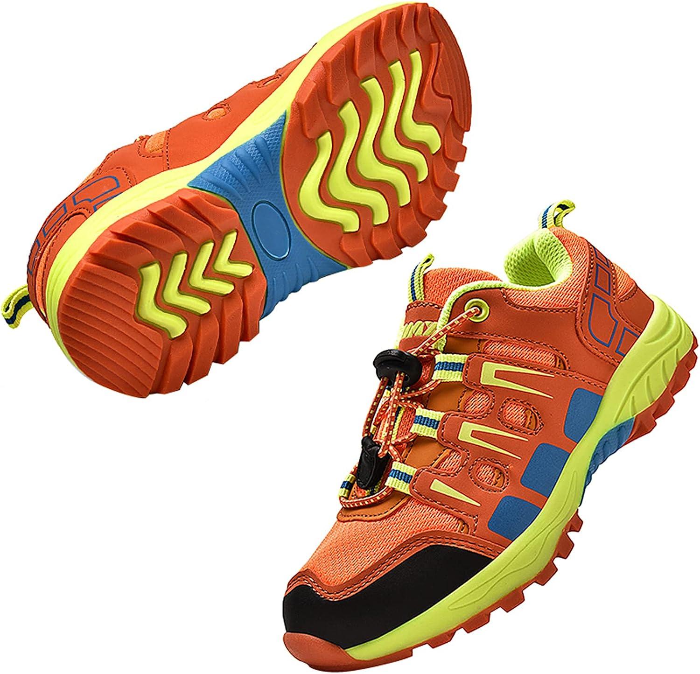 SANNAX Boys Girls Shoes Outdoor Hiking Shoe for Kids Tennis Running Fashion Sneakers