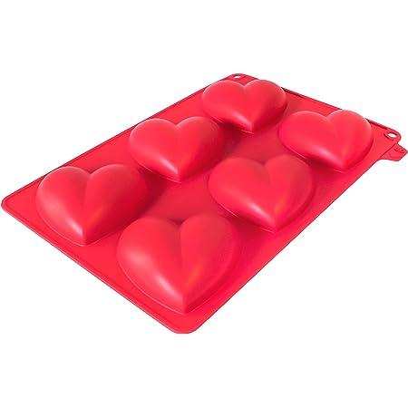 CECOA - Moule Silicone 6 Coeurs 3D