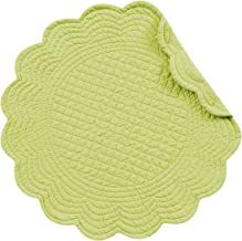 C&F Enterprises 17 Quilted Apple Green Placemat, Set of 4