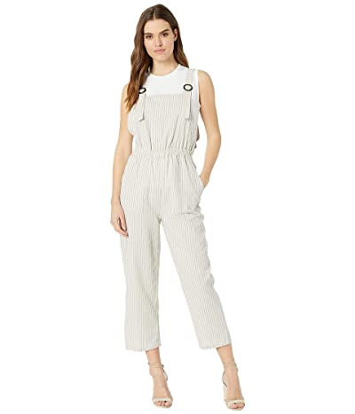 Bishop + Young Seabreeze Overall Jumpsuit (Grey Stripe) Women