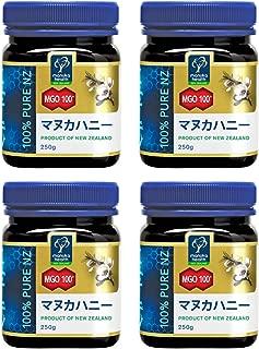 MANUKA HEALTH マヌカヘルス ニュージーランド産はちみつ マヌカハニー MGO100+ 250g 日本語表示ラベル 4個セット