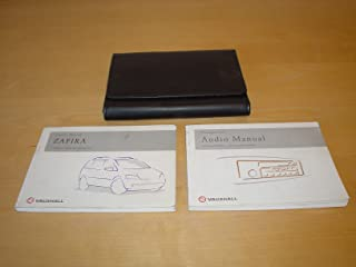 VAUXHALL / OPEL ZAFIRA A OWNERS MANUAL HANDBOOK (1999 - 2005)- 1.6 1.8 ZAFIRA OPC 2.2 LITRE ENGINE 2.0 DTI DIESEL ENGINES - OWNER'S HAND BOOK MANUAL