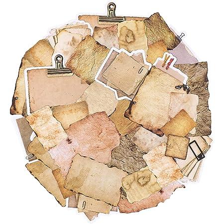 90 pièces papier vintage pour journal, scrapbooking, accessoires de papier pour écrire, dessiner, papier à lettre décoratif esthétique pour le scrapbooking, carnet de voyage