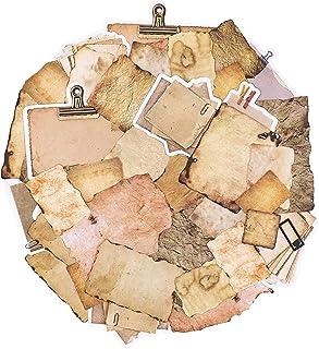 90 pièces papier vintage pour journal, scrapbooking, accessoires de papier pour écrire, dessiner, papier à lettre décorati...