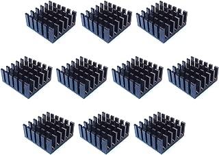 Easycargo 10pcs 20mm Aluminium Dissipateur 20x20x10mm 20mmx20mmx10mm Pre Appliqu/ée 3 m 8810 Ruban Adh/ésif de conductivit/é Thermique pour Refroidissement Cooler GPU Chips VRAM VGA RAM