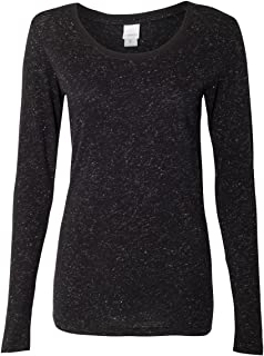 J. America - Women's Glitter Long Sleeve T-Shirt - 8236
