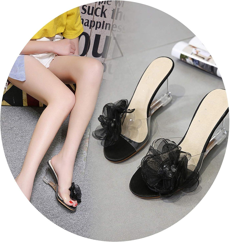 Charismatic-Vibrators PVC Jelly Sandals Open Toe High Heels Women Transparent Perspex Slippers shoes Heel Clear Sandals